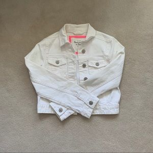 White Denim Cropped Jacket